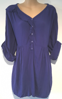 MAMAS & PAPAS BLUE MATERNITY/NURSING BLOUSE TOP  SIZE UK 16